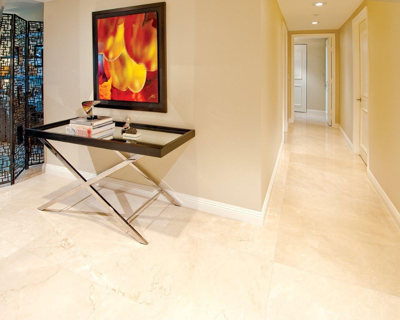 Williams island residence marmol crema marfil marble - Best paint color for crema marfil bathroom ...