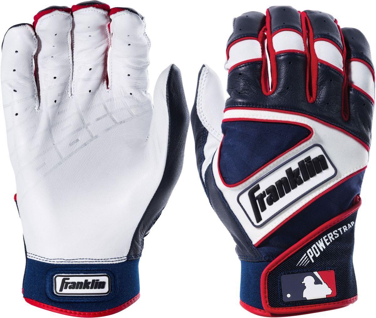 Franklin Adult Powerstrap Batting Gloves Batting Gloves Youth