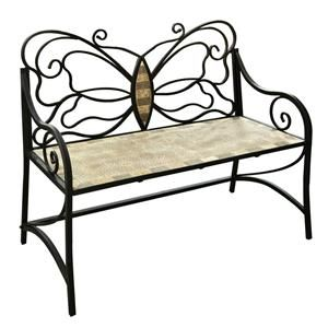 Admirable Mosaic Tile Butterfly Bench Upcycling Ideas In 2019 Uwap Interior Chair Design Uwaporg