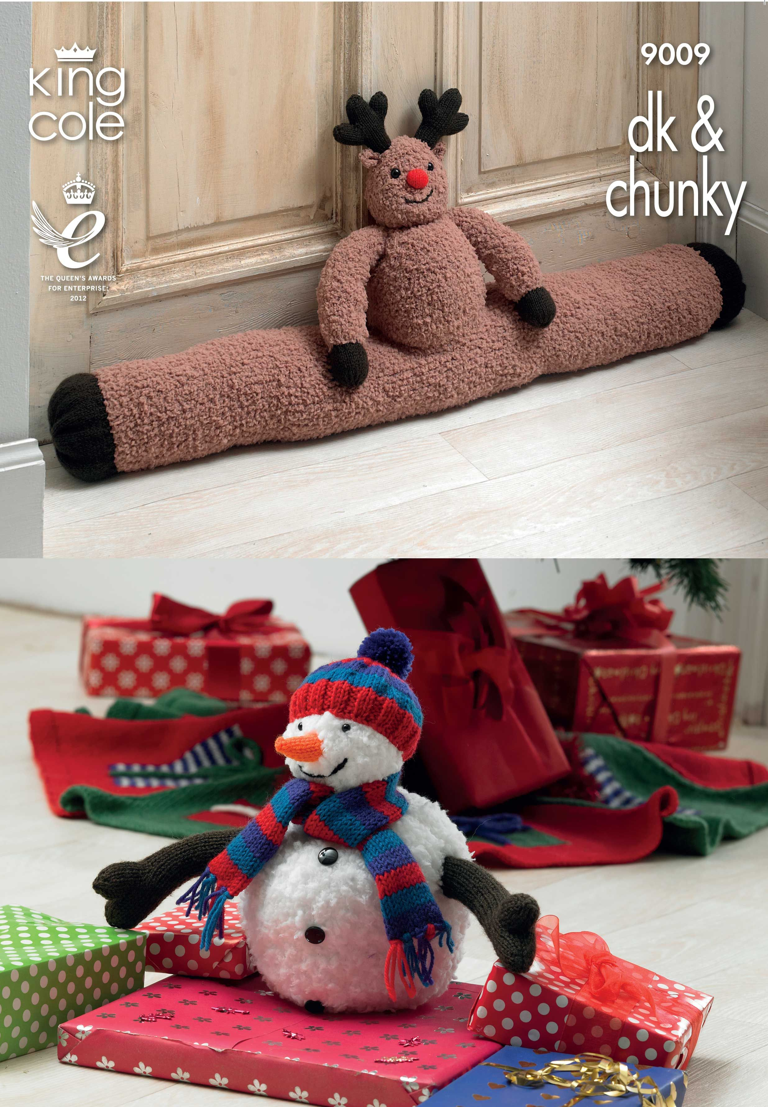 Knitted Rudolph Draught Excluder, Christmas Tree Skirt and Snowman ...