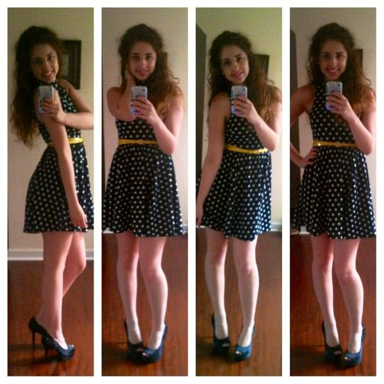 polka dots with yellow