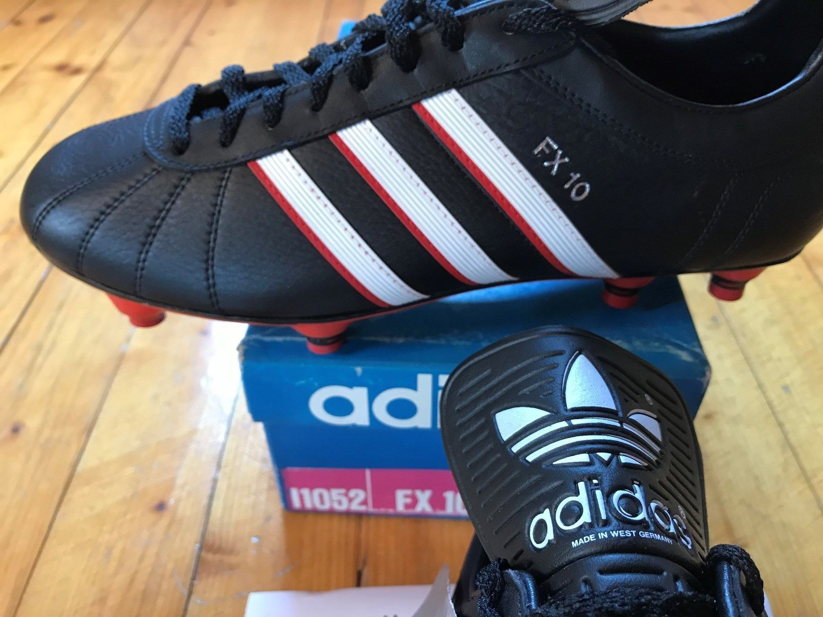 Vintage Adidas FX 10 soccer boots 9,5 WC 1986 Mexico Made
