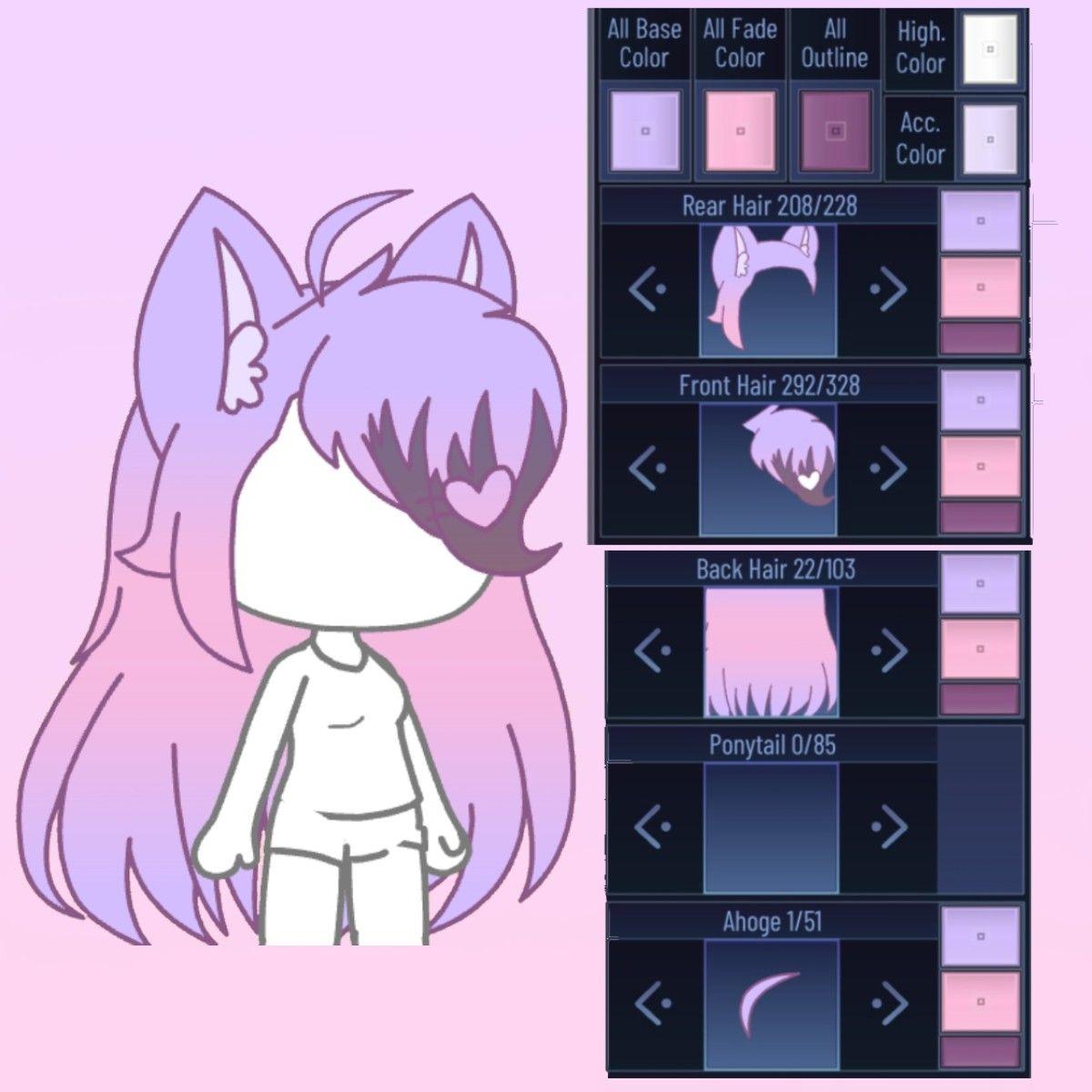 Gacha Hair 1 In 2020 Club Hairstyles Club Outfits Cute Cartoon Wallpapers