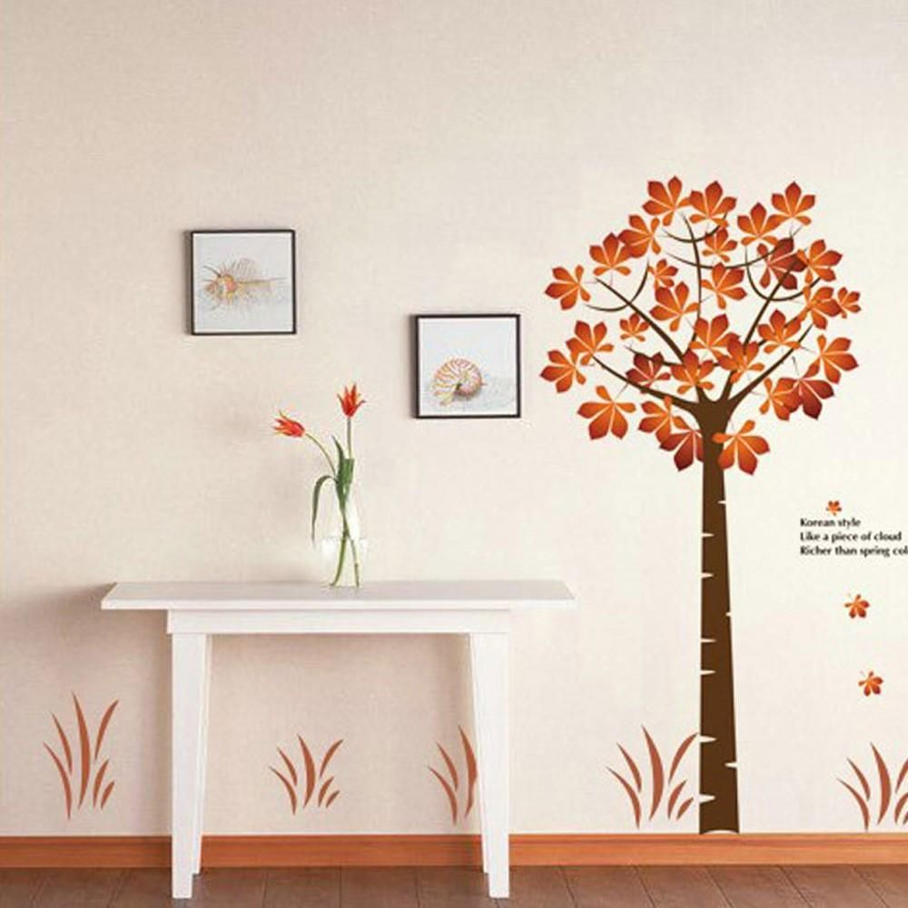Beautiful Maple 2pcs Wall Stickers Art Decals Diy Decal Products