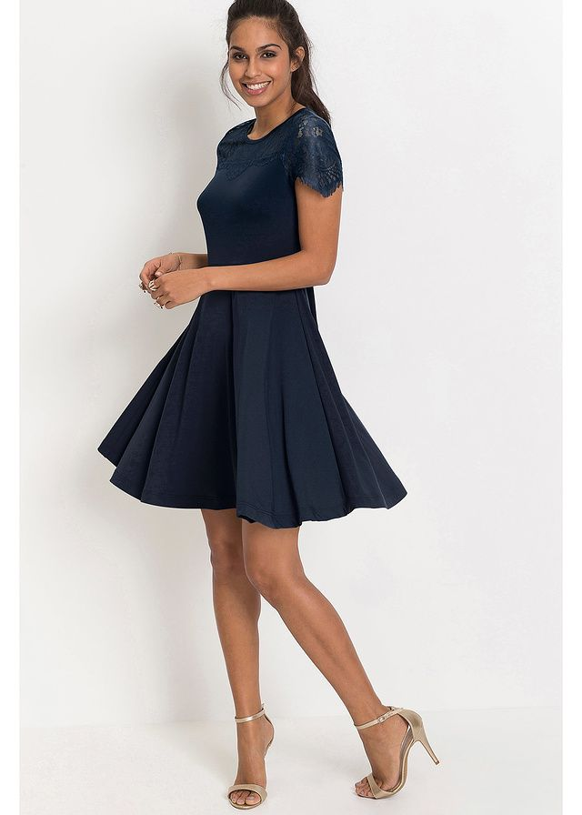 Granatowa Sukienka Z Dzerseju Na Wesele Http Fashion4u Pl Dresses Cold Shoulder Dress Style