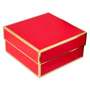 Sugar Paper Red Square Gift Box Small Christmas Decorative