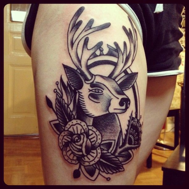 Family Tattoo Ideas Buscar Con Google: Deer Tattoo Neo Traditional