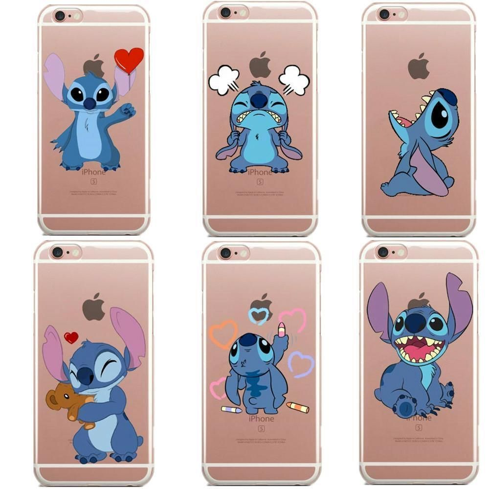 5 49 Funny Cute Stitch Cartoon Clear Hard Phone Case Iphone 5 6 7 8 X Plus Cover Skin Eba Iphone Cases Disney Iphone Phone Cases Phone Case Diy Paint