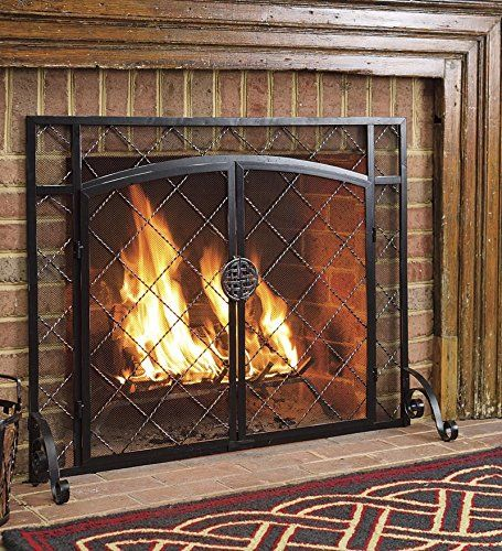 Plow & Hearth Celtic Knot Two-Door Fireplace Hearth Screen ...