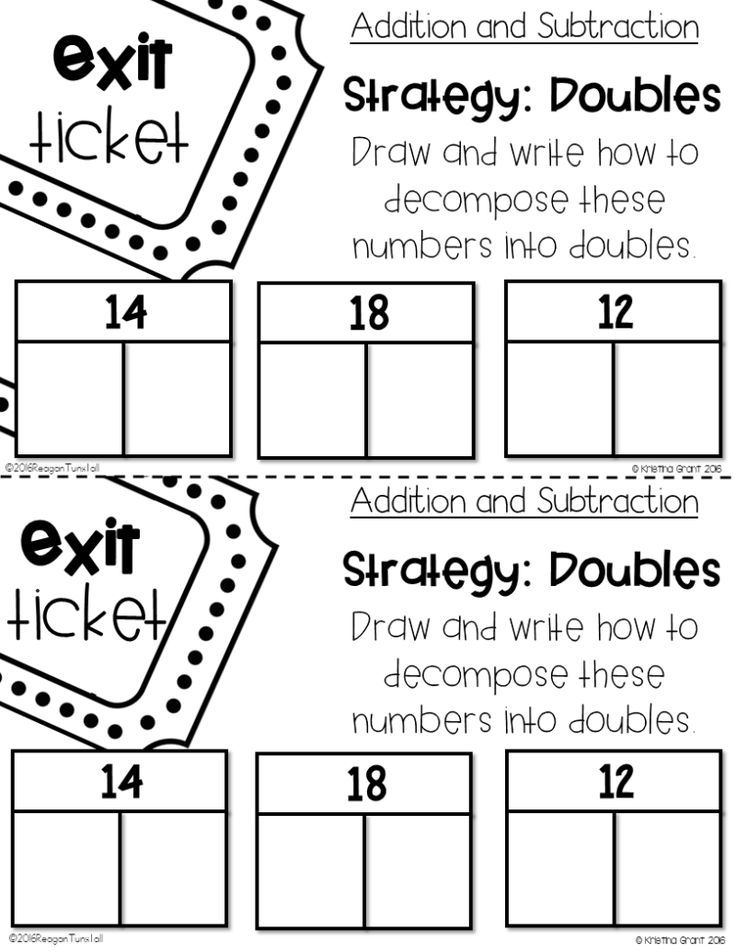 Number Chats, Exit Tickets, and Math Supplements