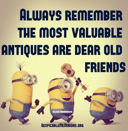 Old Friends Are Valuable Antiques D Minions Funny Antique Quotes Minions 1