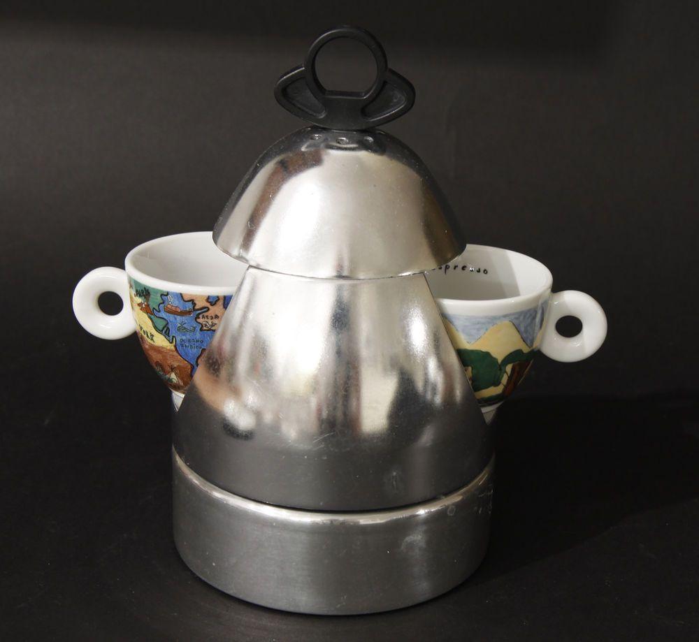 Vintage Vev Vigano Ufo 2 Stovetop Espresso Maker By Vinod