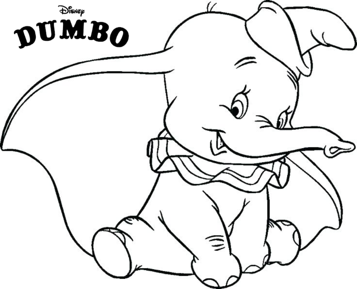Baby elephant Dumbo is unbelievably cute coloring pages cute