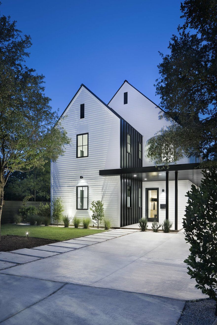 27 Modern Farmhouse Exterior Design Ideas For Stylish But Simple Look: Tarrytown Residence: Farmhouse Modern Aesthetic With An Urban Appeal