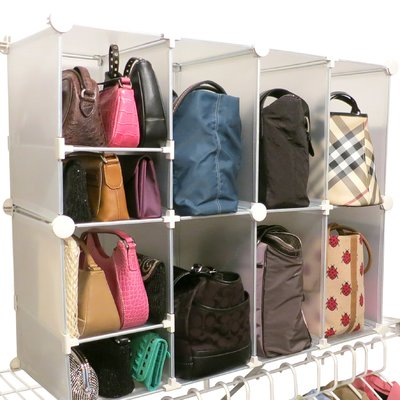 Luxury Living Park A Purse Tote And Clutch Shelf Organizer With Images Clothes Closet Organization Purse Storage Shelf Organization