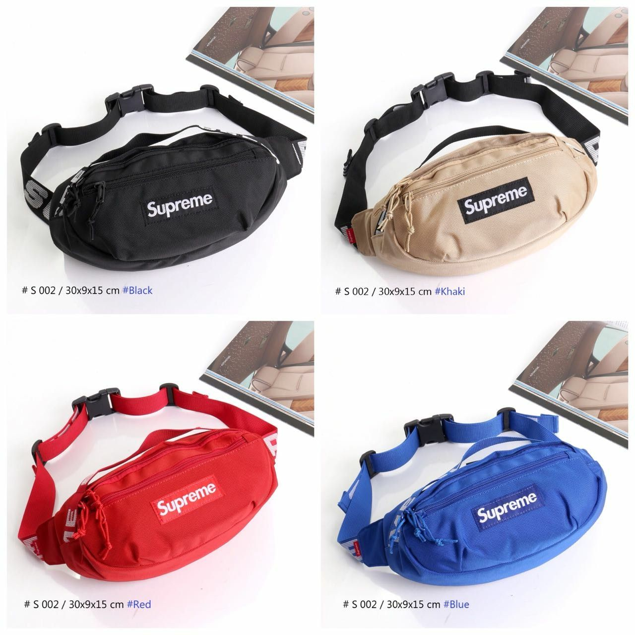 Adabox 002 waist bag supreme* s 002 uk 30x9x15cm bahan kanvas nilon