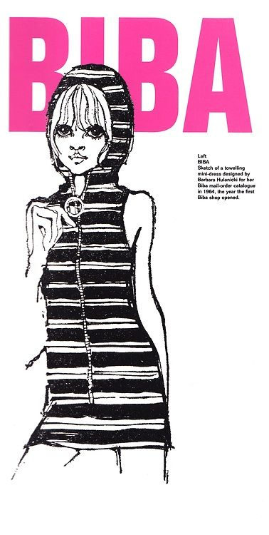 Biba catalogue illustration scanned and found at http://sweetjanespopboutique.blogspot.ie/