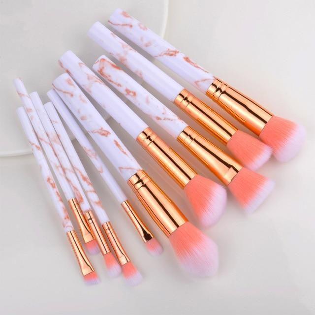 15 Stück Make-up Pinsel Set – 10 Stück rosa