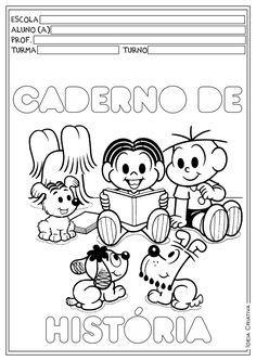 Capas Para Cadernos Turma Da Monica Capa De Caderno Caderno