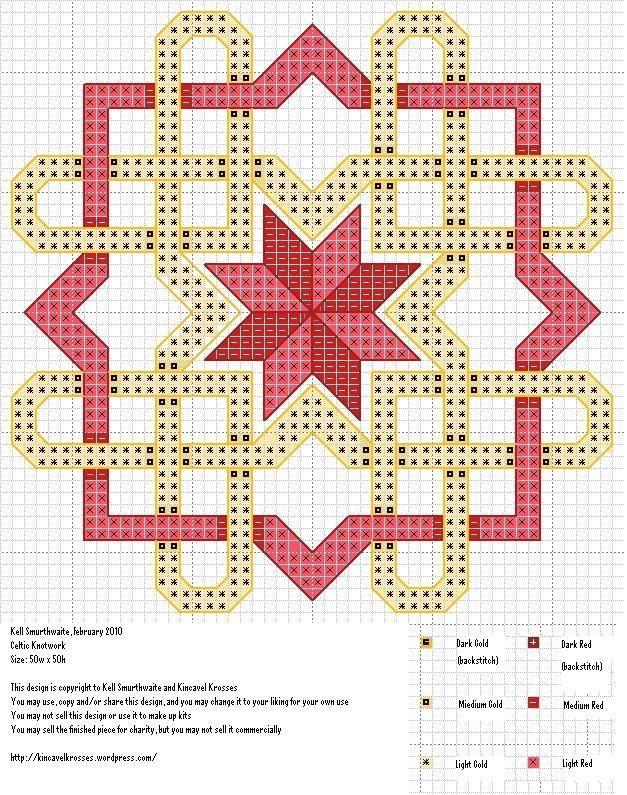 Celtic Knotwork | Tapestry häkeln, Diagramm und Kreuzstich