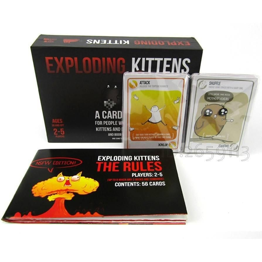 Exploding Kittens Board Game Fun Family Party Playing Cards Game
