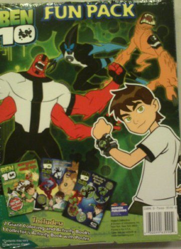 Ben 10 Alien Force Fun Pack With Coloring Book Poster And Activity By Modern