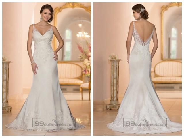 This sleek Fit and Flare bridal gown was imagined and handcrafted to ...