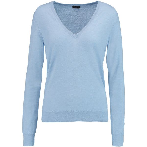 Joseph Cashmere sweater (11.785 RUB) ❤ liked on Polyvore featuring tops, sweaters, shirts, blue, joseph shirts, blue cashmere sweater, shirt tops, shirt sweater and blue top