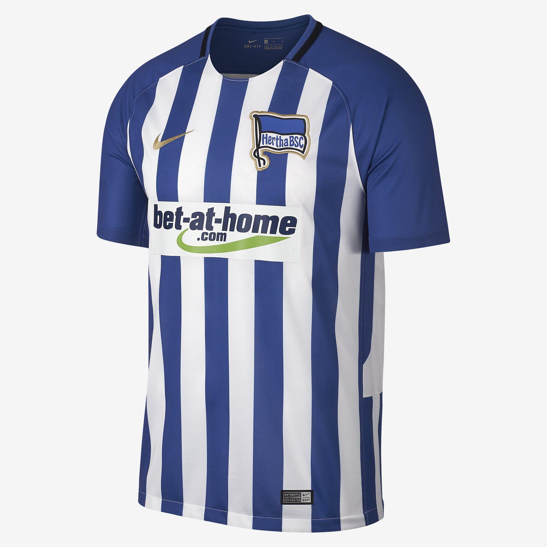 8e12bb849 Nike Hertha Berlin Home Jersey 17 18