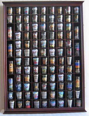 100 Shot Glass Rack Holder Cabinet