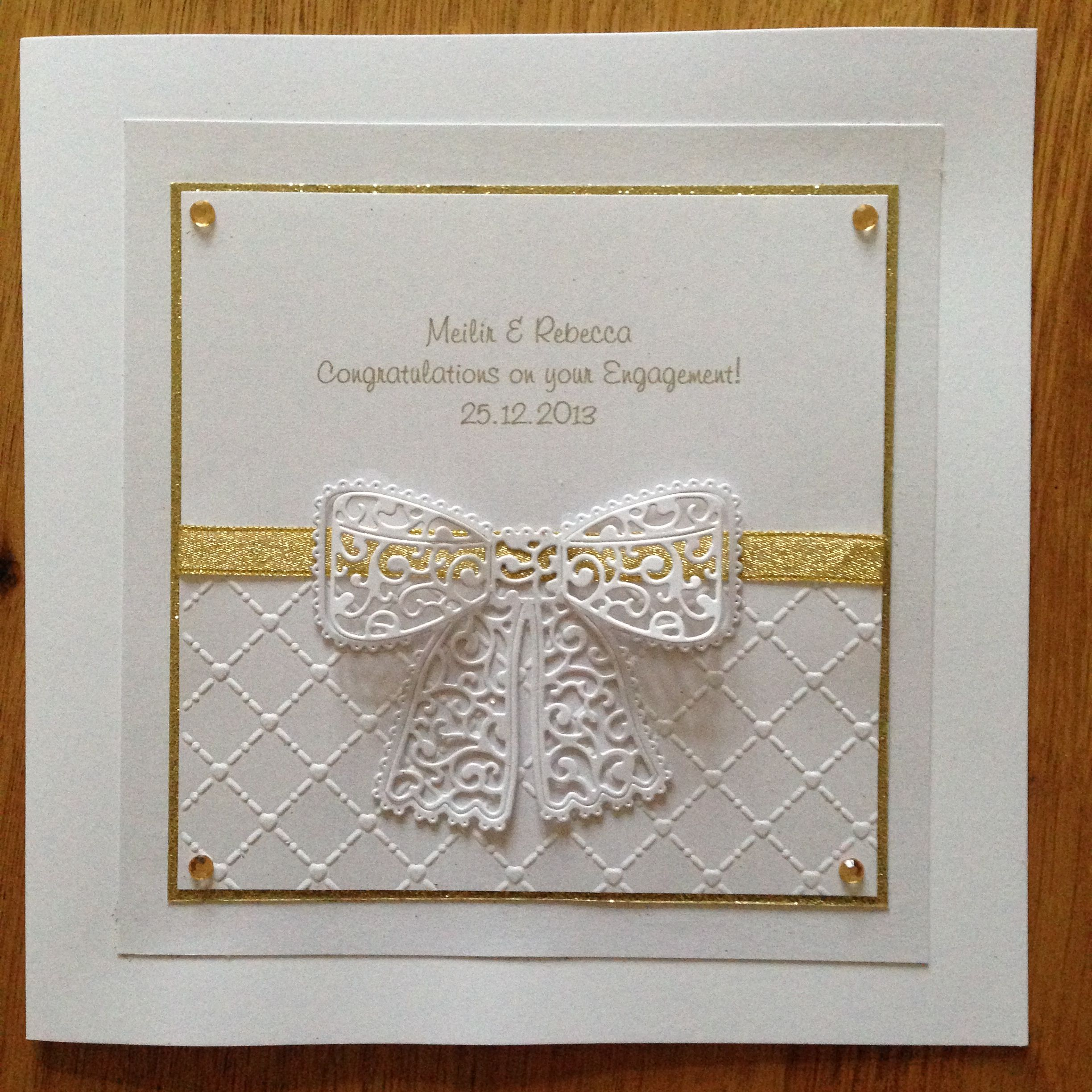 Lace Card Making Ideas Part - 45: Tattered Lace Engagement Card