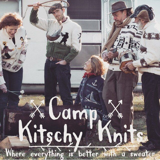 It's practically fall and our needles are full here at Camp Kitschy Knits. We are working day and night to get ready for sweater weather. It's still fairly warm but we know the wuss of change will be blowing any day now.