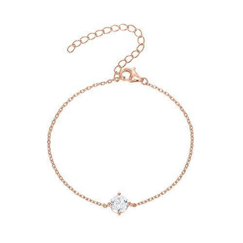 PAVOI Womens Hypoallergenic Rose Gold Plated Simulated Diamond