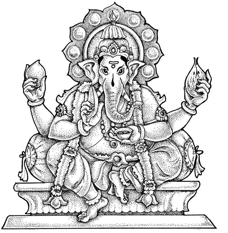 Adult Coloring Pages: Lord Ganesha | Zen Coloring Pages ...