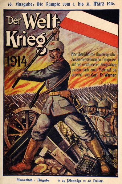 WWI, German propaganda magazine published 31 March 1916 ...