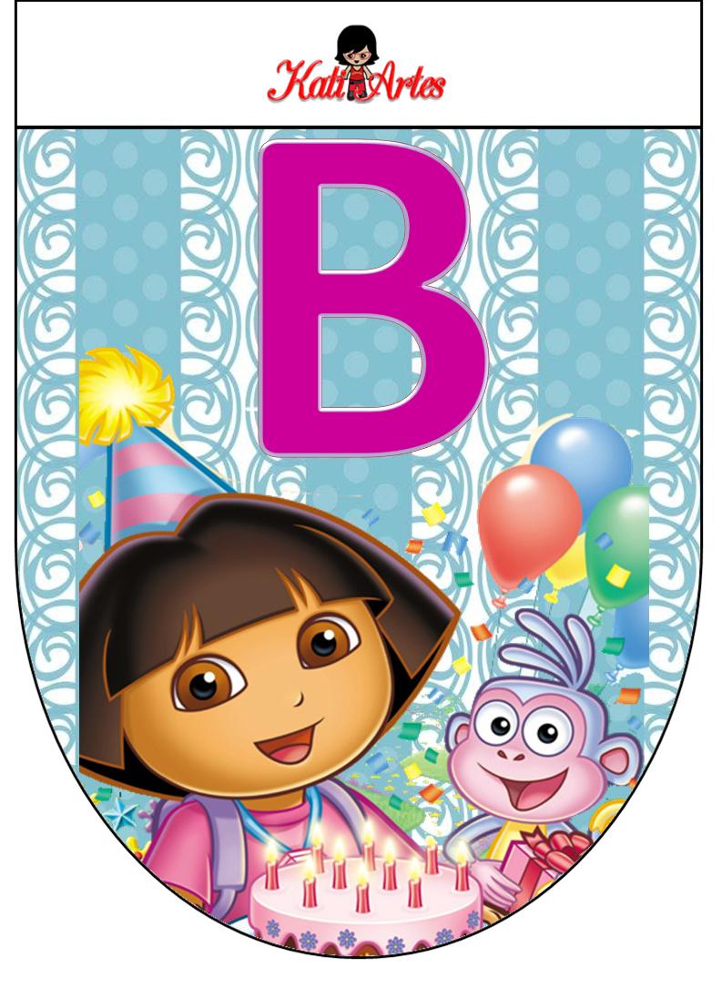 Free Dora the Explorer Banners. Banderines Gratis del Cumpleaños de ...