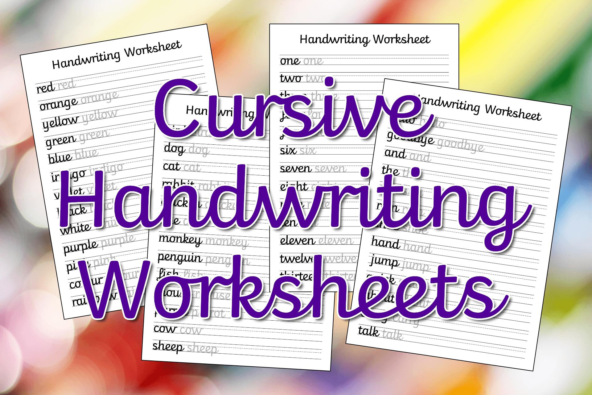 Cursive Handwriting Worksheets Free Printable