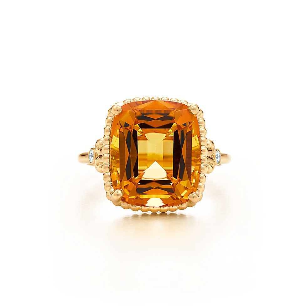c036bfac8 Tiffany Sparklers citrine ring in 18k gold with diamonds. Love at first  sight !