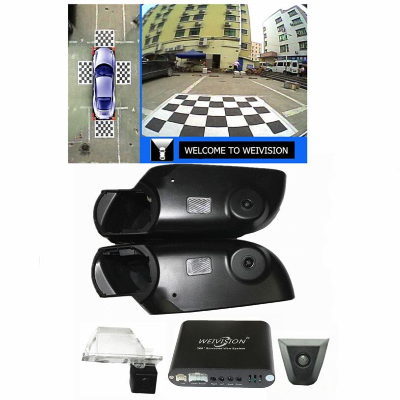 360 Degree bird View Car DVR Record parking Monitor System All