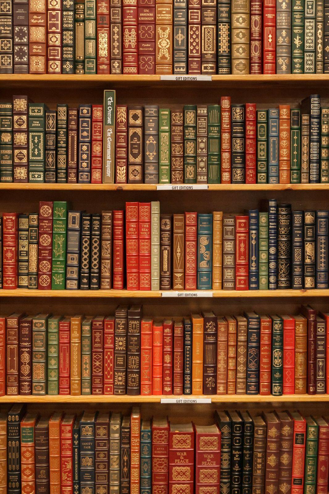 Gift Editions Book Wallpaper Antique Books Wallpaper Bookshelf