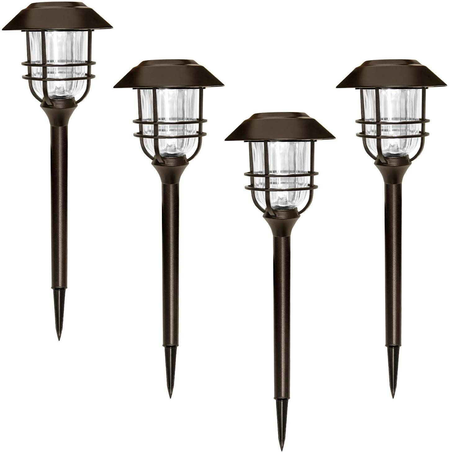 SUNWIND Outdoor LED Solar Lighting 4 Pack Bronze Outdoor