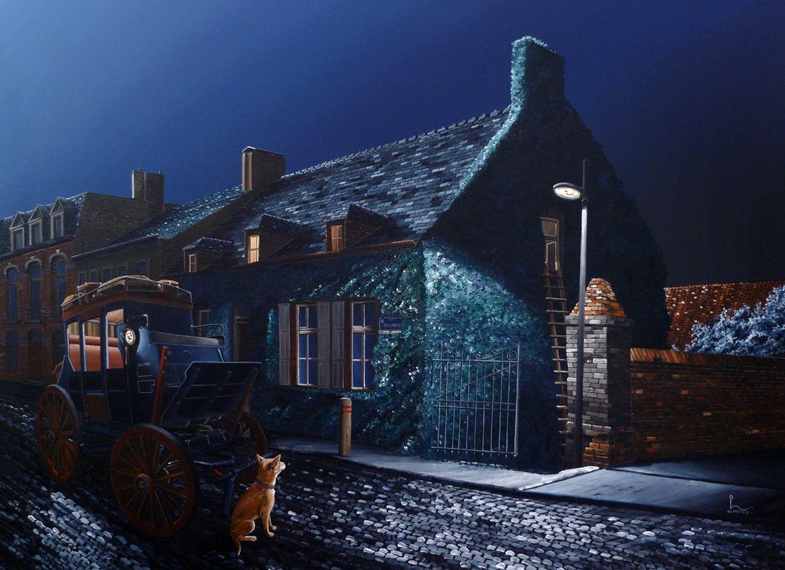 """""""The Blue Moon Escape"""" Acrylic on Canvas"""