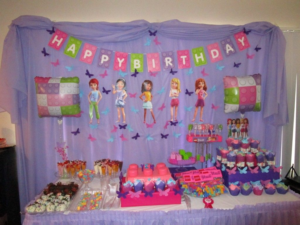 Pin On Lego Friends Birthday Decoration Party