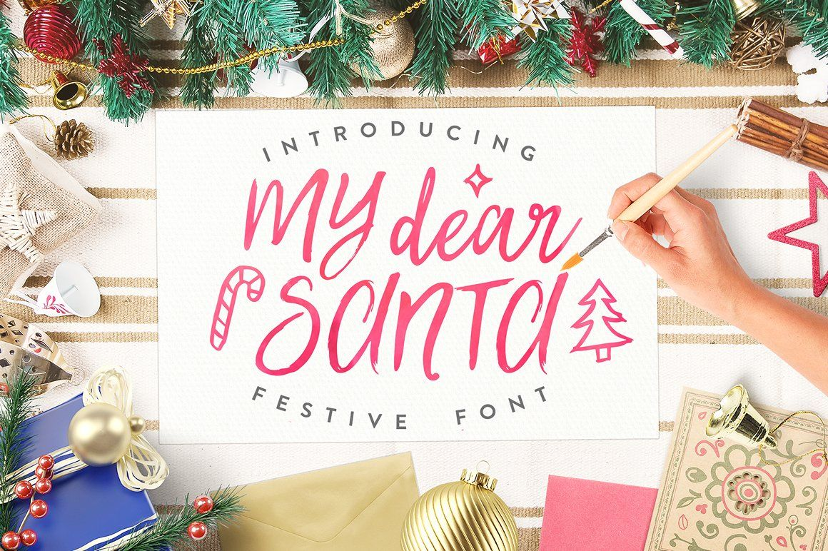 My Dear Santa\' Magical Font + BONUS by Eskimo Creative on ...