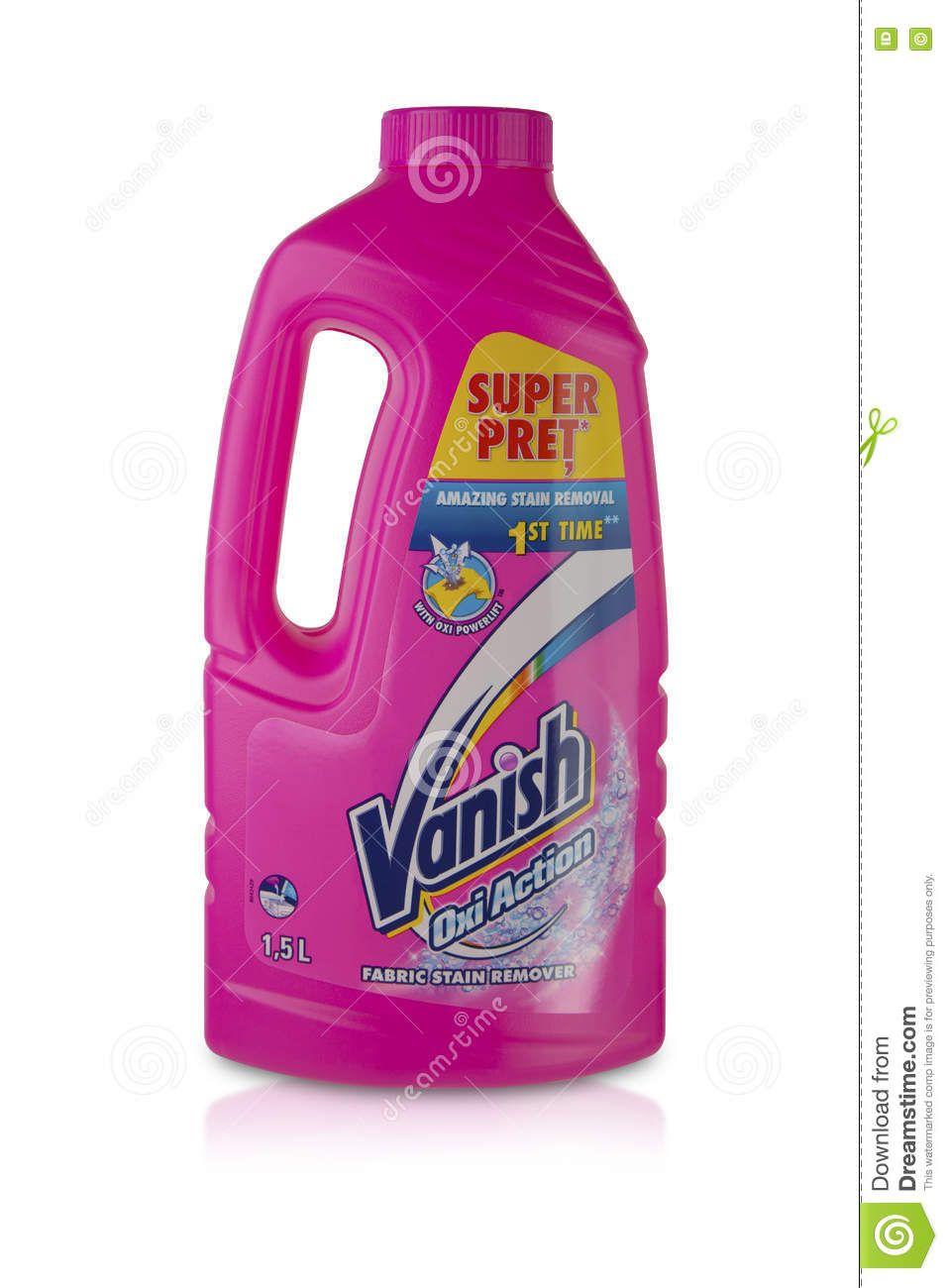 Liquid Stain Remover Fabric Plastic Bottle Vanish L
