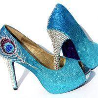 Peacock Wedding Shoes On Offbeatbride Peacock Heels Heels Peacock Shoes