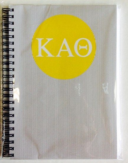 Kappa Alpha Theta Sorority Letters Spiral Notebook $2200 Great