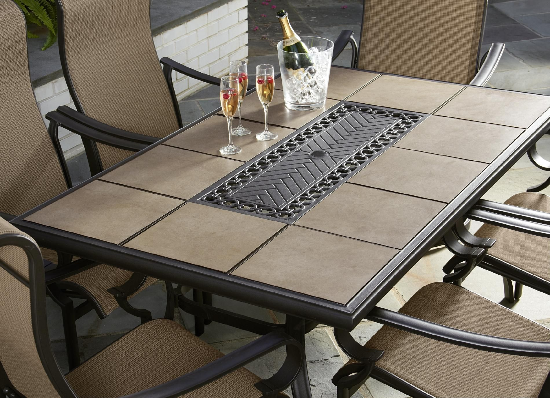 Jaclyn Smith Today Brookner Dining Table Patio Furniture Replacement Cushions Cheap Patio Furniture Iron Patio Furniture