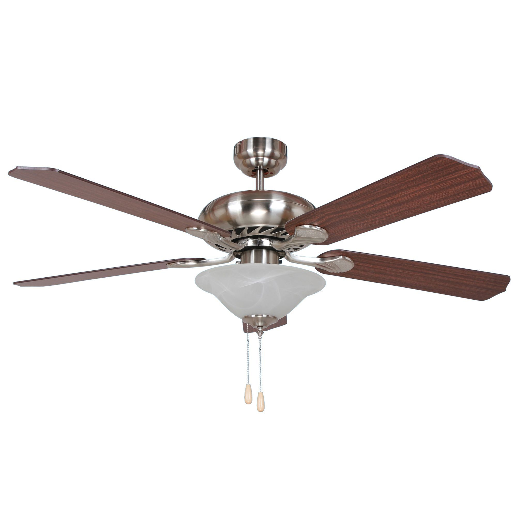 Y-Decor Bodi Bright Brushed Finish 52inch Rounded Body Ceiling Fan ...