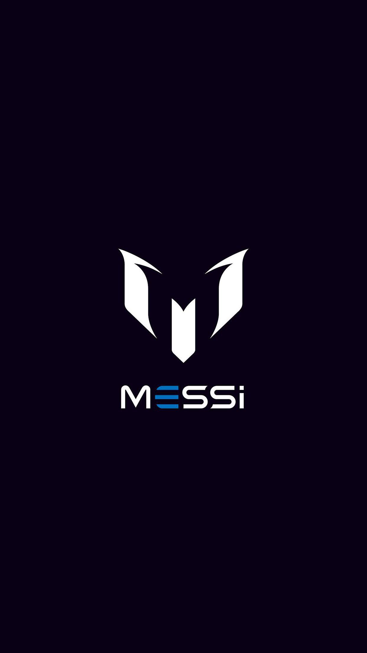 Messi Logo Art Minimal Dark Iphone6 Plus Wallpaper Jpg 1242 2208 Messi Logo Lionel Andres Messi Messi